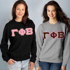 Gamma Phi Beta Crewneck Sweatshirt Package - Gildan 12000 - TWILL