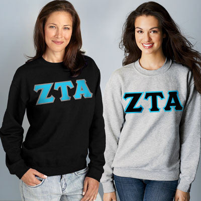 Zeta Tau Alpha Crewneck Sweatshirt Package - Gildan 12000 - TWILL