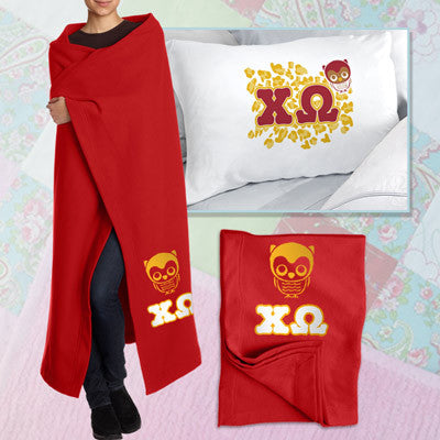 Chi Omega Pillowcase / Blanket Package - CAD