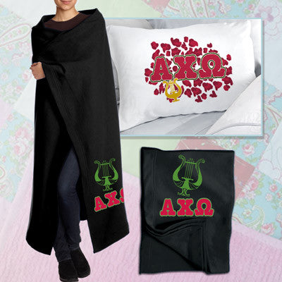 Alpha Chi Omega Pillowcase / Blanket Package - CAD