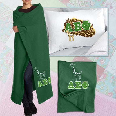 Alpha Epsilon Phi Pillowcase / Blanket Package - CAD