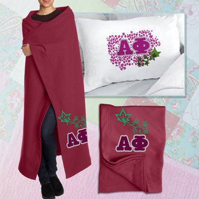 Alpha Phi Pillowcase / Blanket Package - CAD
