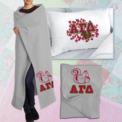 Alpha Gamma Delta Pillowcase / Blanket Package - CAD