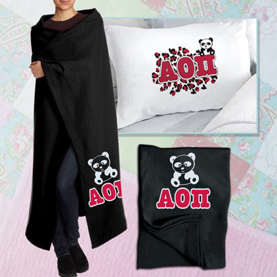 Alpha Omicron Pi Pillowcase / Blanket Package - CAD