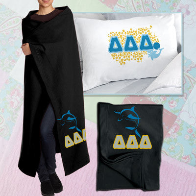 Delta Delta Delta Pillowcase / Blanket Package - CAD