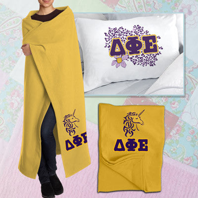 Delta Phi Epsilon Pillowcase / Blanket Package - CAD