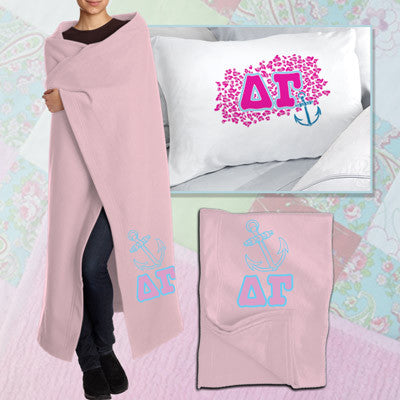 Delta Gamma Pillowcase / Blanket Package - CAD