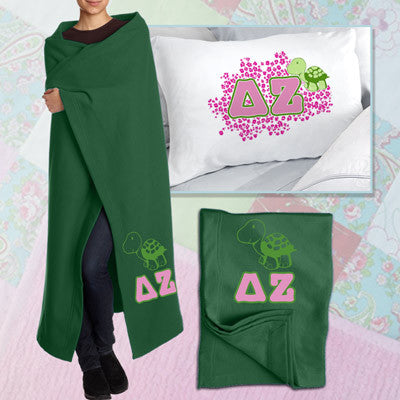 Delta Zeta Pillowcase / Blanket Package - CAD