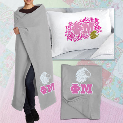 Phi Mu Pillowcase / Blanket Package - CAD