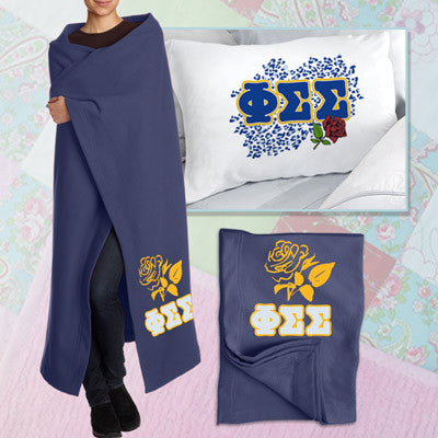 Phi Sigma Sigma Pillowcase / Blanket Package - CAD