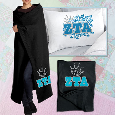 Zeta Tau Alpha Pillowcase / Blanket Package - CAD
