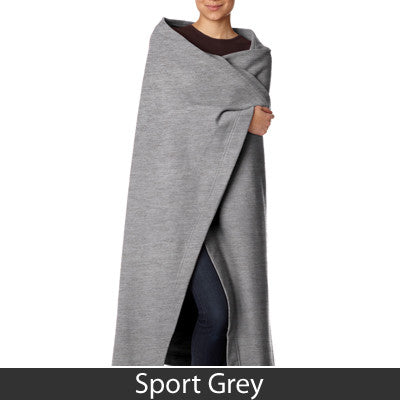 Greek Sweatshirt Blanket with Twill Letters - Gildan 129 - TWILL