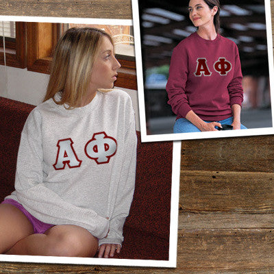 sorority 2 crewneck sweatshirts special 2 for 1 gildan 18000 twill