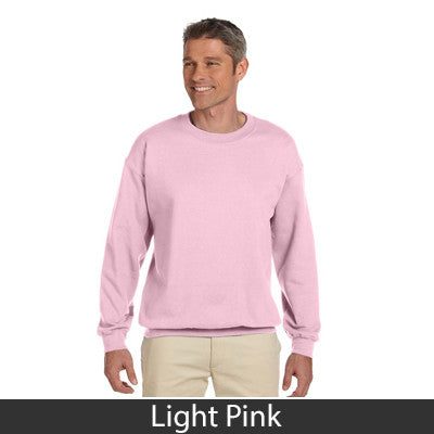 Zeta Tau Alpha Sorority 8oz Crewneck Sweatshirt - Gildan 18000 - TWILL