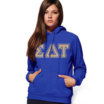 Sorority Varsity Letter Printed Hoodie Printed Greek Gear