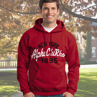 Alpha Chi Rho State and Date Printed Hoody - Gildan 18500 - CAD