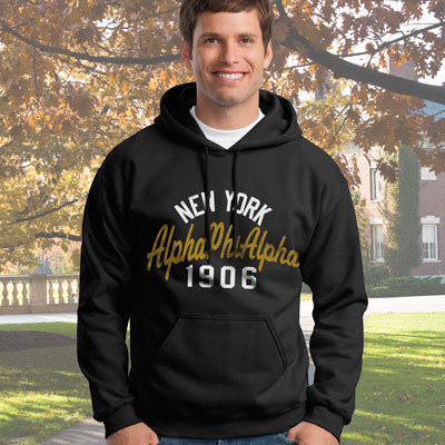 Alpha Phi Alpha State and Date Printed Hoody - Gildan 18500 - CAD