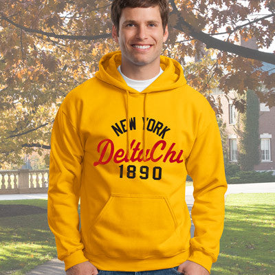 Delta Chi State and Date Printed Hoody - Gildan 18500 - CAD