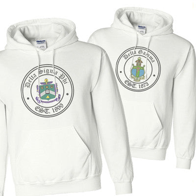 Greek Printed Crest Stamp Sweatshirt - Gildan 18500 - SUB