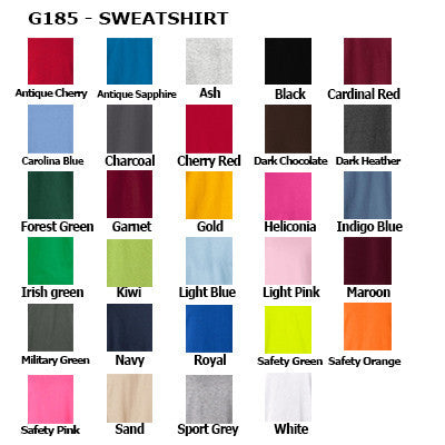 Alpha Delta Pi Hoody / Sweatpant Package - Gildan - TWILL