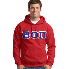 Beta Theta Pi Hooded Sweatshirt - Gildan 18500 - TWILL
