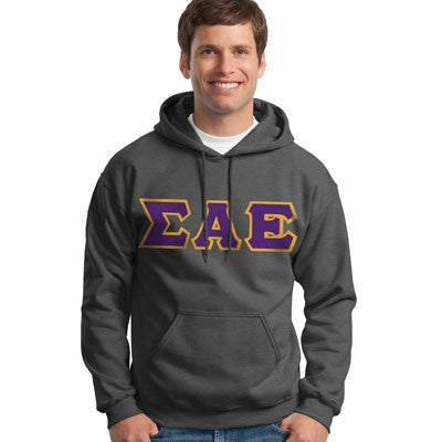 Sigma Alpha Epsilon Hooded Sweatshirt - Gildan 18500 - TWILL