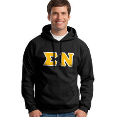Sigma Nu Hooded Sweatshirt - Gildan 18500 - TWILL