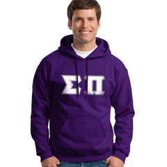 Sigma Pi Hooded Sweatshirt - Gildan 18500 - TWILL