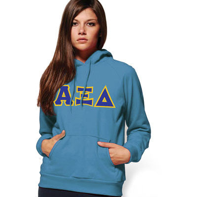 Alpha Xi Delta Hooded Sweatshirt - Gildan 18500 - TWILL