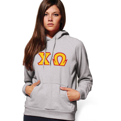 Chi Omega Hooded Sweatshirt - Gildan 18500 - TWILL