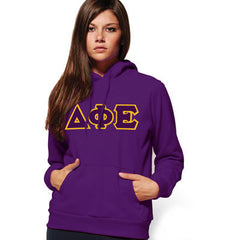 Delta Phi Epsilon Hooded Sweatshirt - Gildan 18500 - TWILL