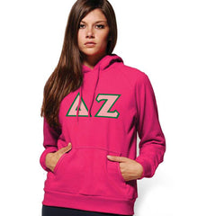 Delta Zeta Hooded Sweatshirt - Gildan 18500 - TWILL