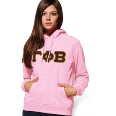 Gamma Phi Beta Hooded Sweatshirt - Gildan 18500 - TWILL