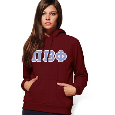 Pi Beta Phi Hooded Sweatshirt - Gildan 18500 - TWILL