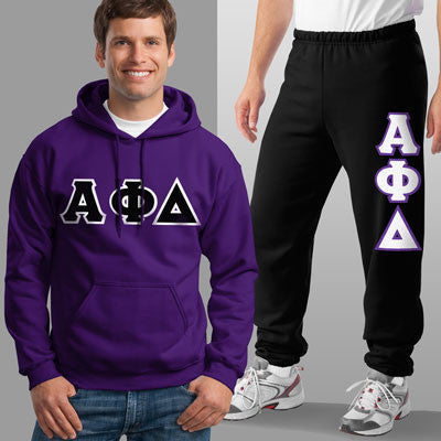 Alpha Phi Delta Hoody / Sweatpant Package - TWILL