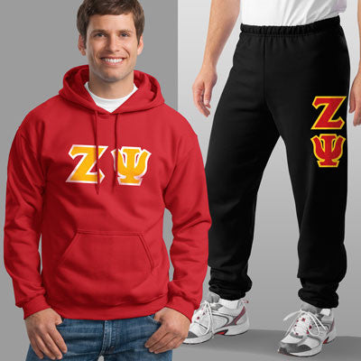 Zeta Psi Hoody / Sweatpant Package - TWILL