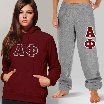 Alpha Phi Hoody / Sweatpant Package - TWILL