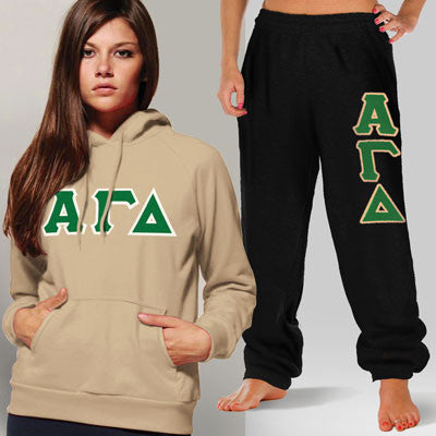 Alpha Gamma Delta Hoody / Sweatpant Package - TWILL