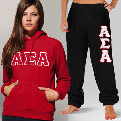 Alpha Sigma Alpha Hoody / Sweatpant Package - TWILL