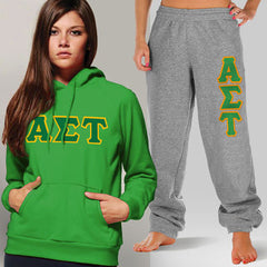 Alpha Sigma Tau Hoody / Sweatpant Package - TWILL