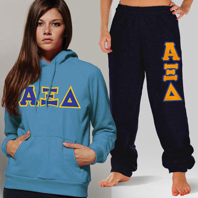 Alpha Xi Delta Hoody / Sweatpant Package - TWILL