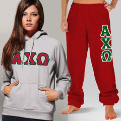 Alpha Chi Omega Hoody / Sweatpant Package - TWILL