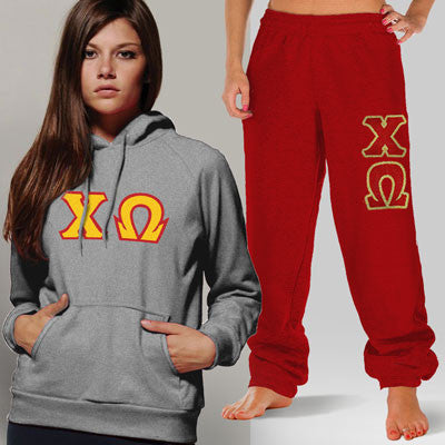 Chi Omega Hoody / Sweatpant Package - TWILL