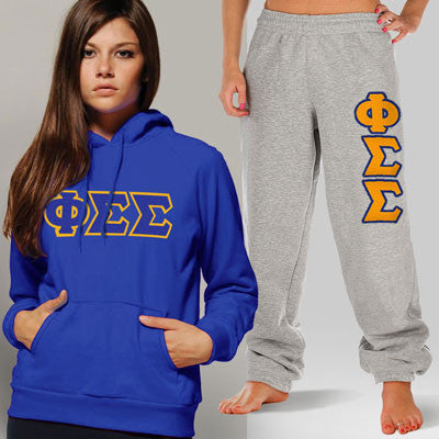 Phi Sigma Sigma Hoody / Sweatpant Package - TWILL
