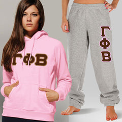 Gamma Phi Beta Hoody / Sweatpant Package - TWILL