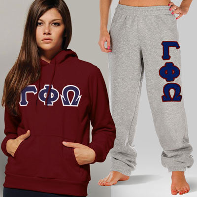 Gamma Phi Omega Hoody / Sweatpant Package - TWILL