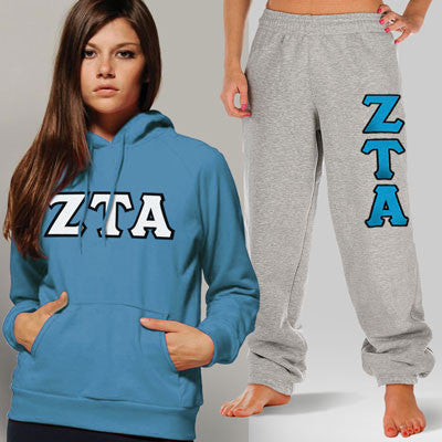 Zeta Tau Alpha Hoody / Sweatpant Package - TWILL
