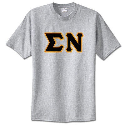 Sigma Nu Fraternity Lettered T-Shirt