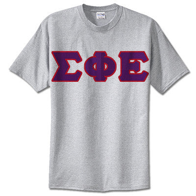 Sigma Phi Epsilon Fraternity Lettered T-Shirt