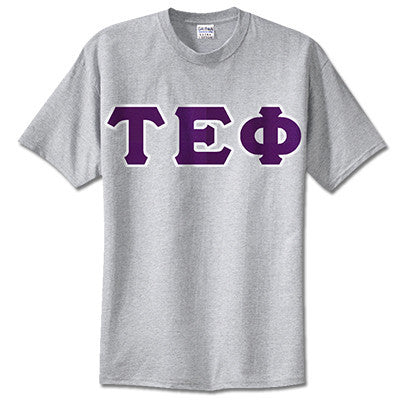 Tau Epsilon Phi Fraternity Lettered T-Shirt